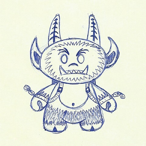 """Krampus"" Dunny Design Sketch"