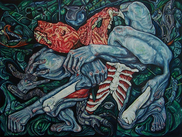 I put it all in this. Blood, toil, tears and sweat. Oil on Canvas print for sale