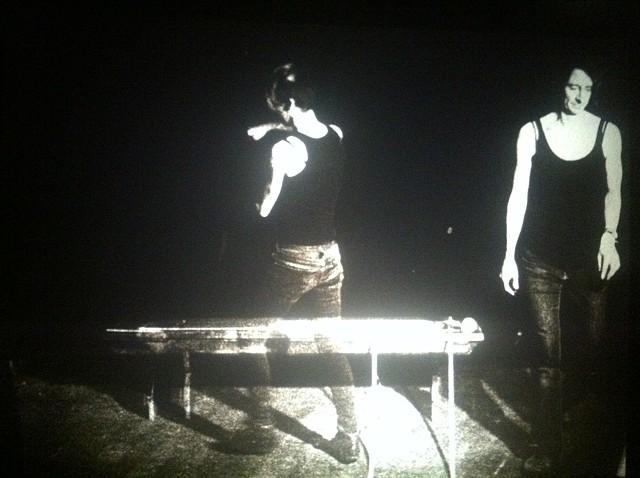Studio Arrangement  Jenny Baines & Bea Haut, 2014 16mm b & w, silent 100'