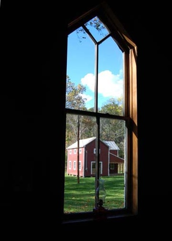 artist: Candace Clifford title: Window on Red Barn
