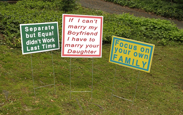 Artist: Linda Hesh Title: Separate But Equal, Focus On Your Own Family, Your Daughter