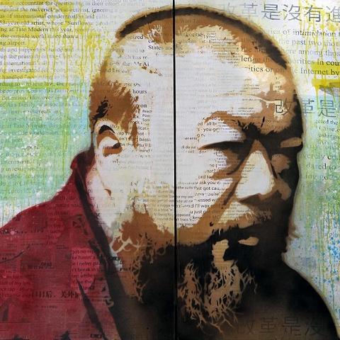 Artist: Gabriel Pons Title: Tribute to Ai Weiwei: 21st Century Revolutionary