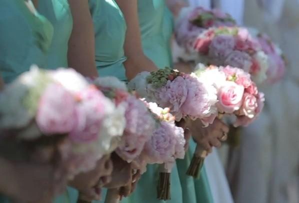 Vintage Peony Bridesmaid Bouquets