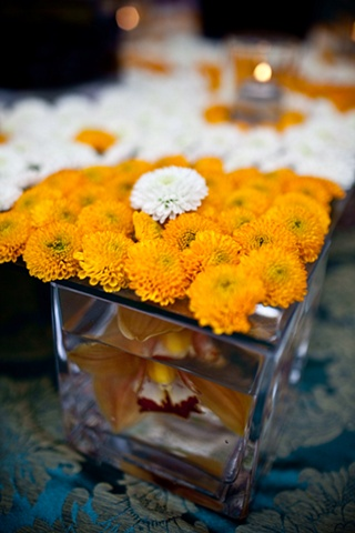 Modern Orange Tablescape Detail Blue World Studios