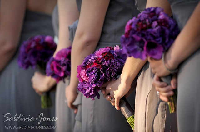 Textured Bridesmaid Bouquets
