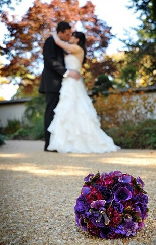 Purple Textured Bridal Bouquet