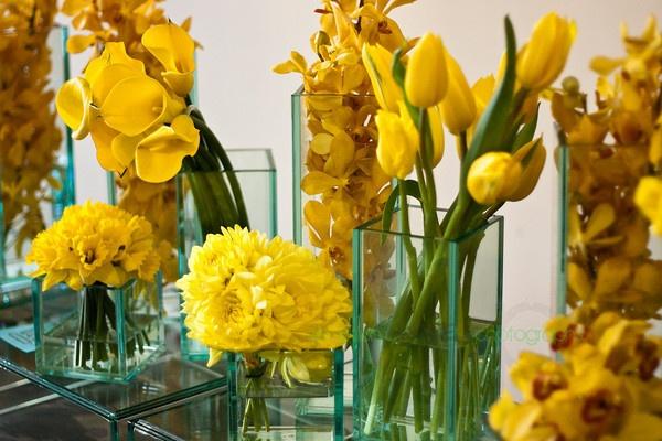 Yellow Reception Arrangements