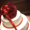 Red Rose Cake Topper