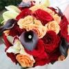 Jeweled Purple Calla Lily Bridal Bouquet