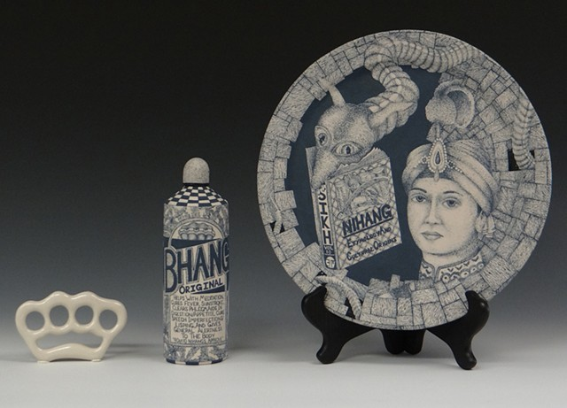 ceramics, clay, porcelain, painting, illustration, history, Nihang, Fateh Singh