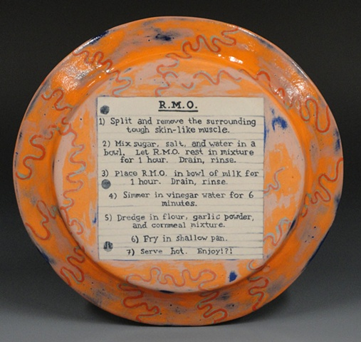 Rocky Mountain Oysters, Plate, Ceramics