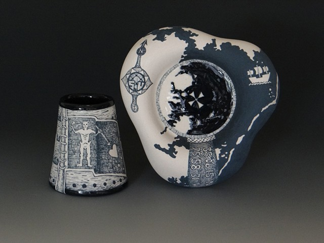 ceramics, clay, porcelain, painting, illustration, history, alcohol, rum