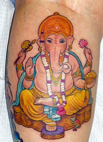 Ganesh tattoo; Laura usowski; Lovecraft Tattoo