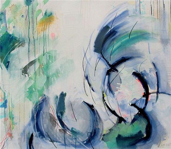Abstract Painting Blues Simple Fresh Whites