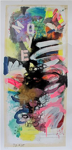 Abstract, Vertical, Movement, colorful, contemporary, interesting,