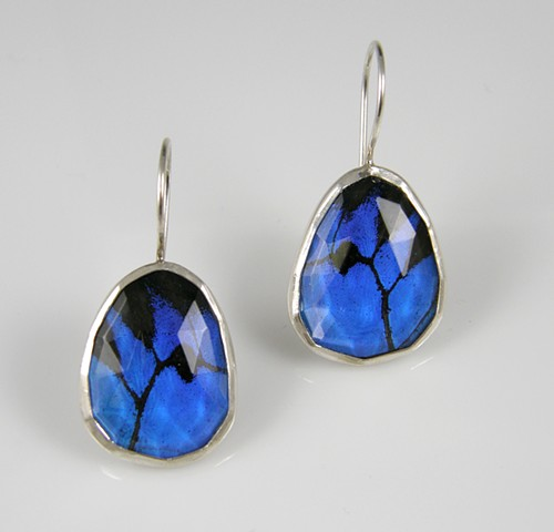 'Blue Birds' Earrings