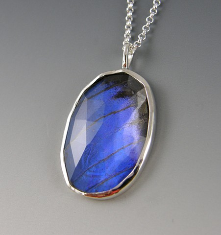 Rose Cut Blue Pendant