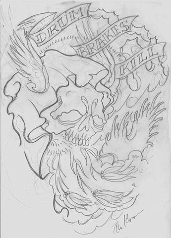 Origional artwork for Drum brakes kill
