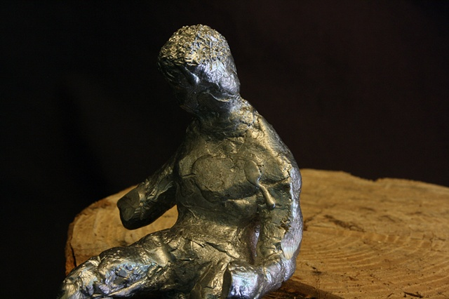 Aluminum, Sculpture, Figure, death, mourn, hurt, pain, bobby english, Jr