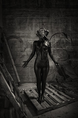 Mask, Sculpture, Studio, Art, Space, Model, Female Model