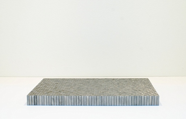 Stainless Steel Grid Ken Nicol, Metal Field, Conceptual Artist Toronto, K-Nicol, www.k-nicol.com