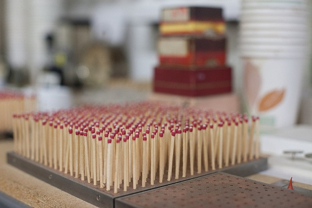 A grid of matches