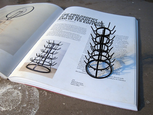 bottle dryer book piece, Duchamp, K.nicol, ken nicol, Type Books, bookworks