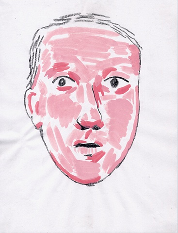 pink face, skin, burns, blood, blade wynne