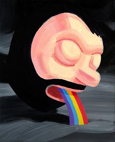 rainbow vomit beard