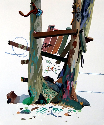 tree house, painting
