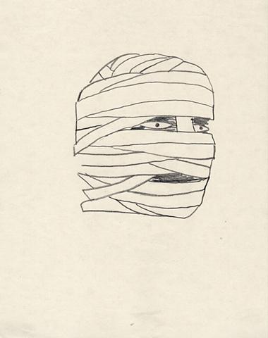mummy, gauze, blade wynne