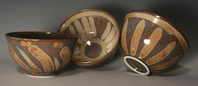 Nikki Dennison cone 10 bowls