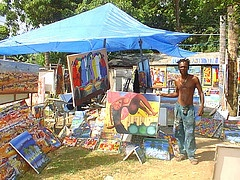 Artist in the Tent City