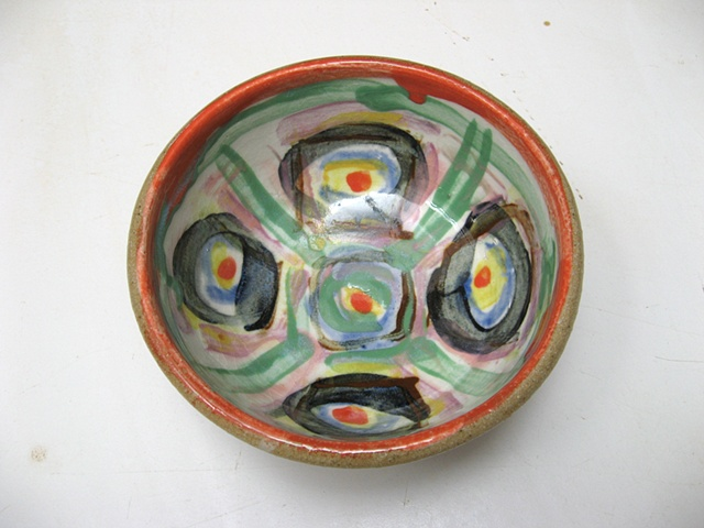 Alex Theodorou, decorated bowl, one of a set of 20