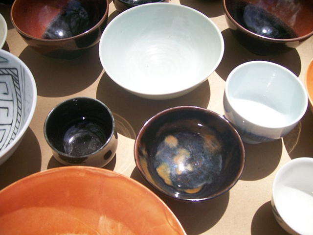 Arita-style porcelain bowls (different potters) Courtesy of Kathryn Cyman