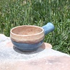 Jackie Clifton blue bowl with handle (Aspects of Clay)