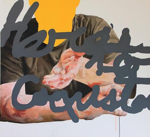 Nathaniel Lancaster, Here's to Coexistence, Word Up: The intersection of text and image. North Carolina Museum of Art
