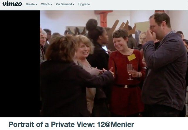 Portrait of a Private View, 12@Menier - Andy Warrington, February 24th 2016