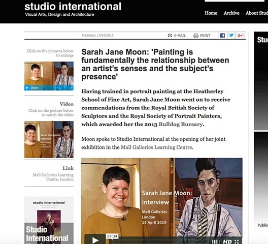 Sarah Jane Moon, Studio International - Anna McNay, 17th April 2015