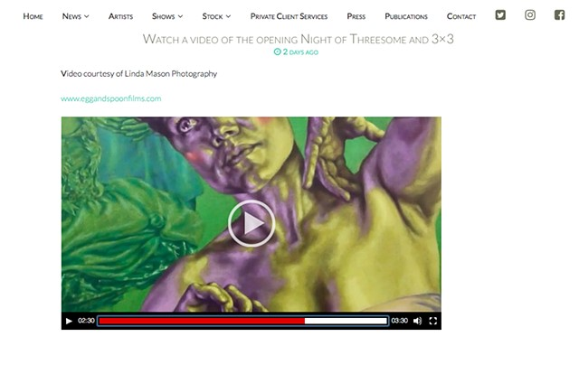 Threesome & 3x3 Private View Video, Linda Mason, New Art Projects, Jan 10th 2018