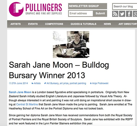 Sarah Jane Moon: Bulldog Bursary Winner 2013 - Anja Piotrowski, June 27th 2014