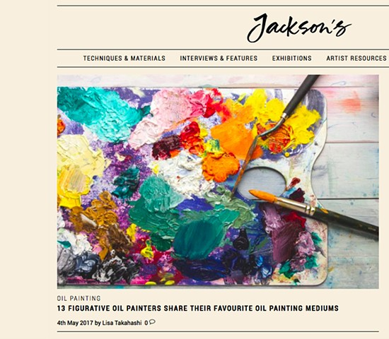 '13 Figurative Oil Painters Share Their Favourite Oil Painting Mediums', Jackson's Art, May 2017