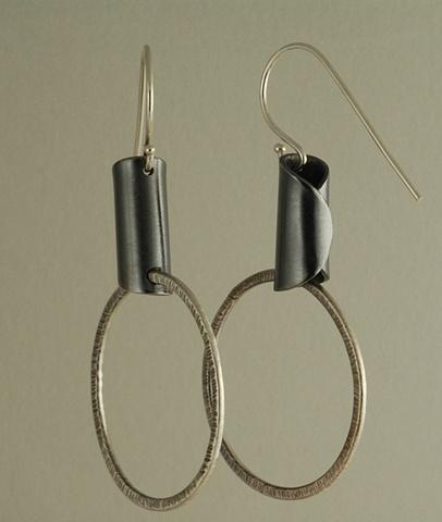 Sterling Silver and 18k gold balls modern designer earrings