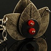 Lotus necklace with coral