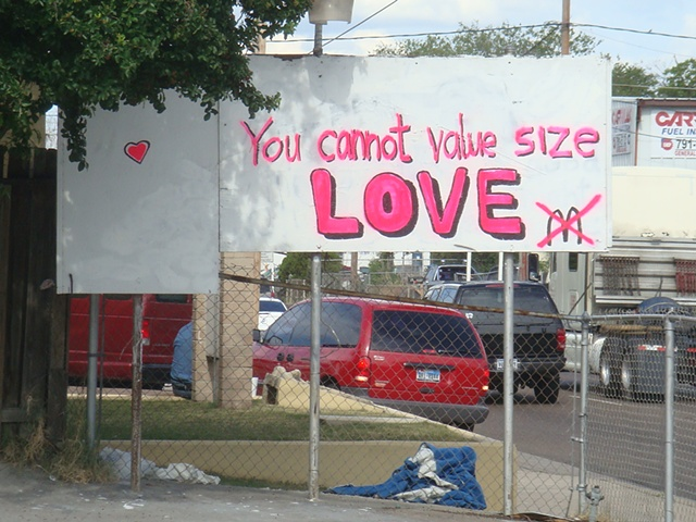 You cannot value size LOVE