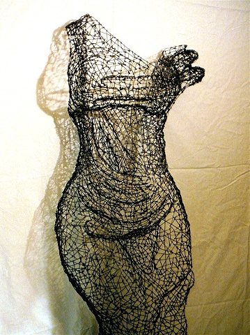 Kristine Mays , wire dresses, San Francisco artist