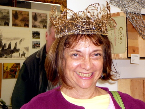crowned with golden leaves