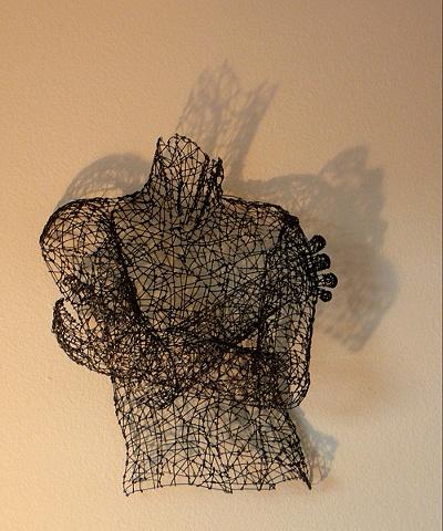 male figure, wire sculpture, Kristine Mays, art, figurative