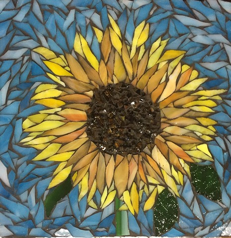 Stained Glass Mosaic Floral, Sunflower