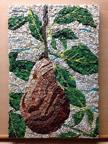 Stone, Smalti and Glass Mosaic, Fruit